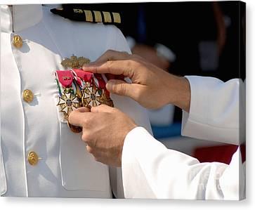The Legion Of Merit Medal Canvas Print by Stocktrek Images