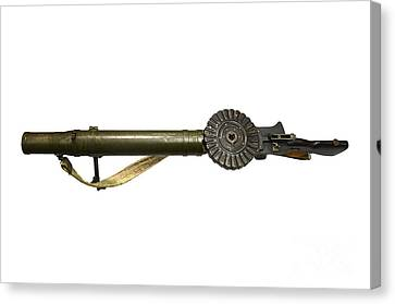 The Lewis Automatic Machine Gun Canvas Print by Andrew Chittock