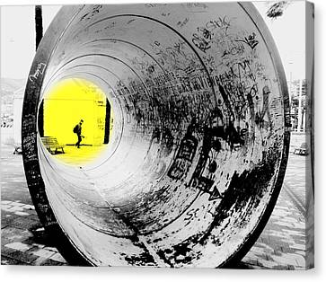 The Light At The End Of The Tunnel Canvas Print by Valentino Visentini
