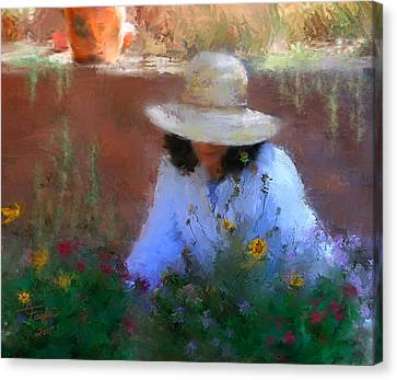 The Light Of The Garden Canvas Print by Colleen Taylor