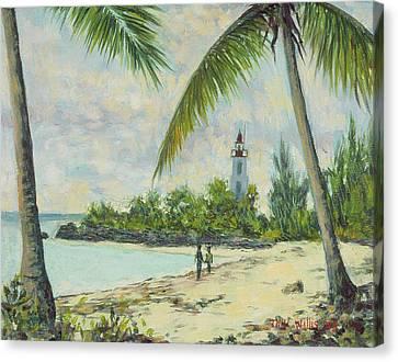 The Lighthouse - Zanzibar Canvas Print by Tilly Willis