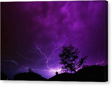 The Lightning Spread Canvas Print