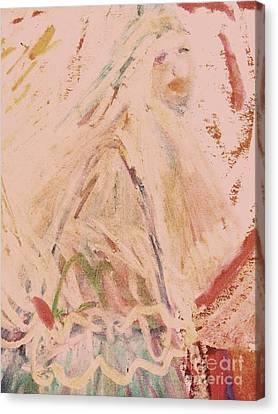 The Lily Who Waits Canvas Print by Deborah Montana