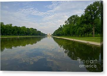 The Lincoln Memorial And Reflecting Pool Canvas Print by Jim Moore