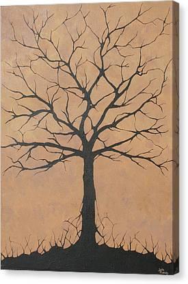the Lindsey Tree Canvas Print by Julia Raddatz
