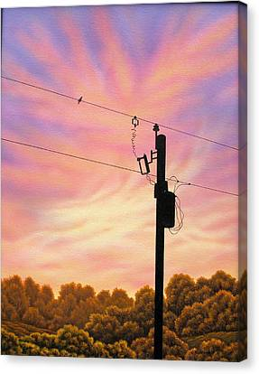 The Lineman Canvas Print by Arley Blankenship