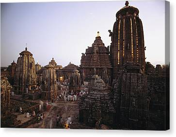 The Lingaraja Temple In Bhubaneshwar Canvas Print by James P. Blair