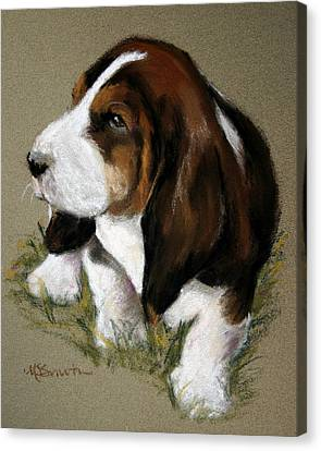 The Little Basset Canvas Print by Mary Sparrow