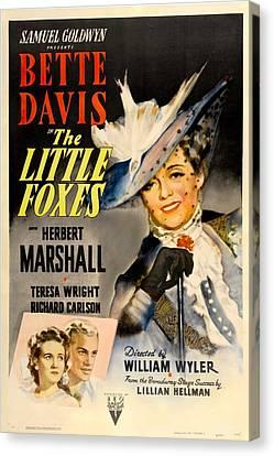 The Little Foxes, Poster Art, Bette Canvas Print
