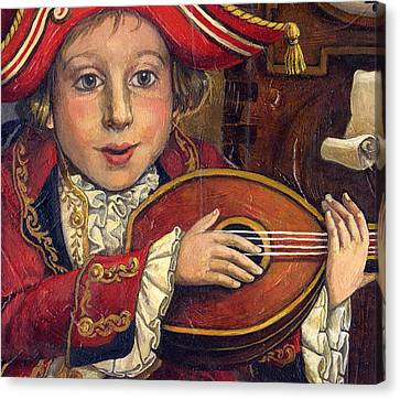 The Little Mozart.detail. Canvas Print by Victoria Francisco