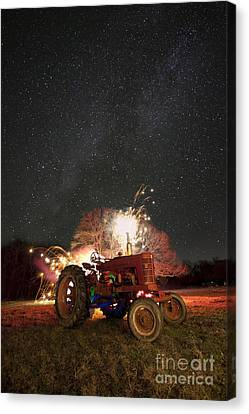 The Little Red Tractor That Could Canvas Print by Keith Kapple