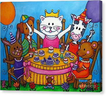 The Little Tea Party Canvas Print by Lisa  Lorenz
