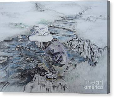 Canvas Print featuring the drawing The Little Things by Laurianna Taylor