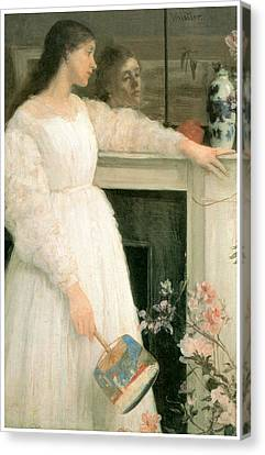 The Little White Girl Canvas Print by James Abbott McNeill Whistler