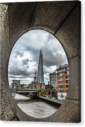The London Shard Canvas Print by Dawn OConnor