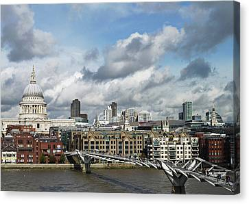 The London Skyline Towards St Paul's Cathedral Canvas Print by Eyespy
