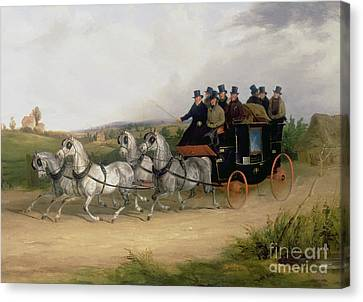 The London To Brighton Stage Coach Canvas Print by William Joseph Shayer