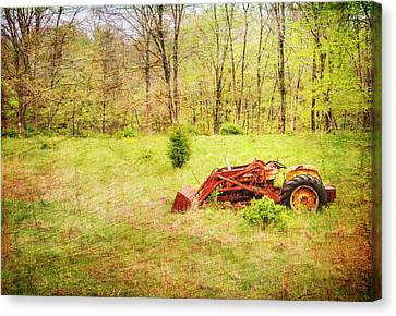 The Lone Tractor Canvas Print by Paul Ward
