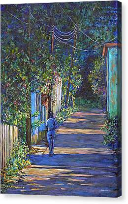 The Lonely Road Canvas Print by Li Newton