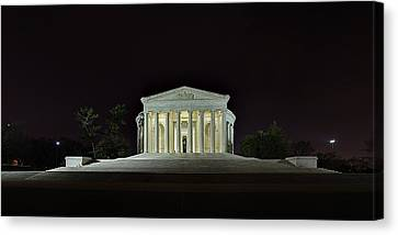 The Lonely Tourist At Jefferson Memorial Canvas Print by Metro DC Photography