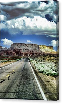 The Long And Lonely Road Canvas Print by Ellen Heaverlo
