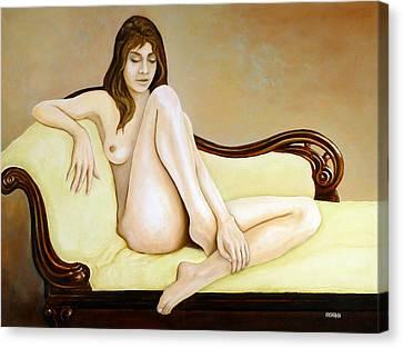 The Long Pose Canvas Print by Tom Morgan
