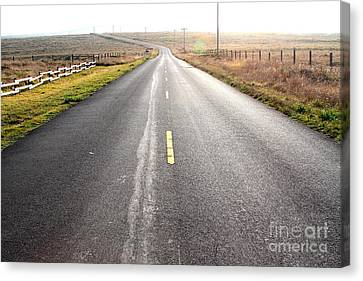 The Long Road Home . 7d9903 Canvas Print by Wingsdomain Art and Photography