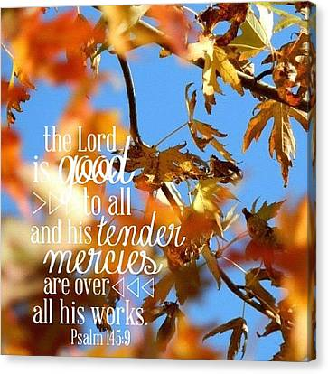 the  Lord  Is Good To All: And His Canvas Print by Traci Beeson