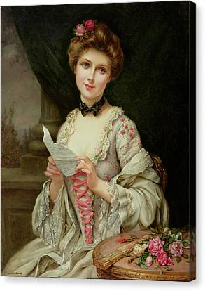 The Love Letter Canvas Print by Francois Martin-Kayel