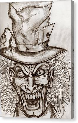 The Mad Hatter Canvas Print by Michael Mestas