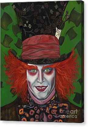 The Mad Hatter Canvas Print by Viveca Mays