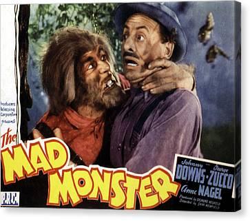 The Mad Monster, Glenn Strange Left Canvas Print by Everett