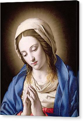 The Madonna Praying Canvas Print by Il Sassoferrato