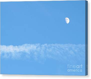 The Magic Of The Moon Canvas Print by Valia Bradshaw