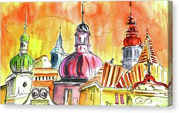 The Magical Roofs Of Prague 01 Bis Canvas Print by Miki De Goodaboom