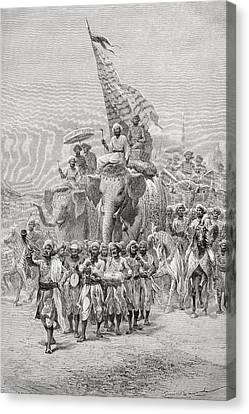 The Maharaja Of Baroda, India Riding An Canvas Print by Ken Welsh