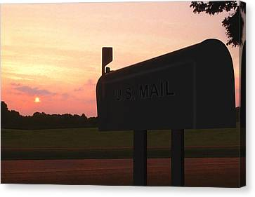 The Mail Of Old Canvas Print by Mike McGlothlen