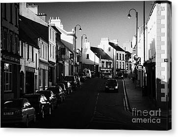 the main through road in Ballycastle Ann Street county antrim northern ireland Canvas Print