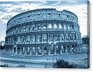 The Majestic Coliseum Canvas Print by Luciano Mortula