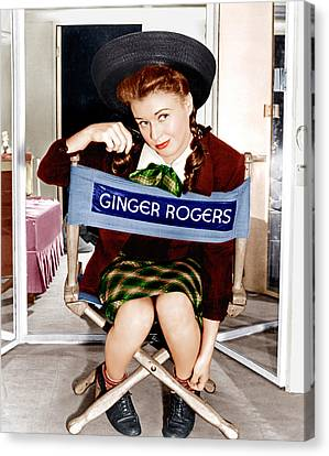 The Major And The Minor, Ginger Rogers Canvas Print by Everett