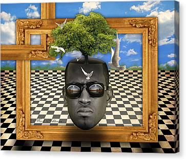 The Man And The Tree  Canvas Print by Mark Ashkenazi