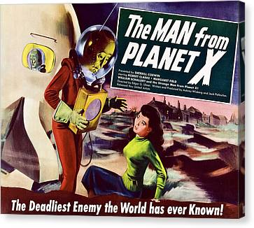 The Man From Planet X, Pat Goldin Title Canvas Print by Everett