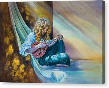 The Mandolin Player Canvas Print