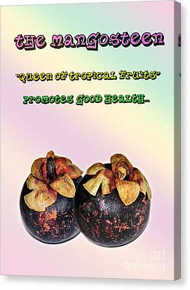 The Mangosteen - Queen Of Tropical Fruits Canvas Print by Kaye Menner