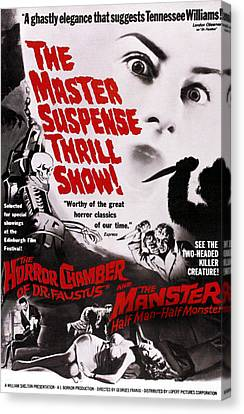 The Manster, Aka The Split, On Double Canvas Print by Everett