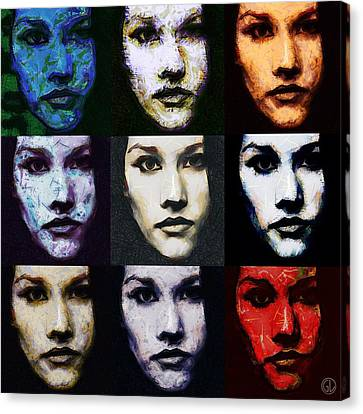The Many Faces Of Eve Canvas Print by Gun Legler
