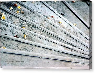 Canvas Print featuring the photograph The Marble Steps Of Life by Vicki Ferrari