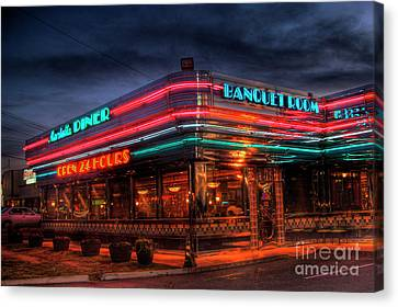 Atlanta Convention Canvas Print - The Marietta Diner by Corky Willis Atlanta Photography