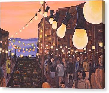 The Market At Dusk Canvas Print by Jennifer Lynch