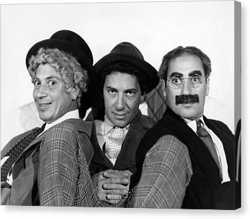 The Marx Brothers From Left Harpo Marx Canvas Print by Everett